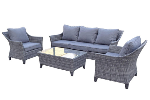 Francesca 5 Seat Grey Sofa Set