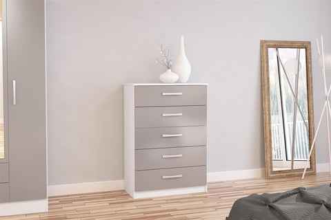 Lynx 5 Drawer Chest Of Drawers