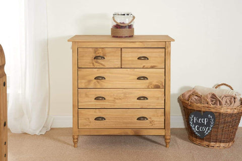 Pembroke 3 + 2 Drawer Chest Of Drawers