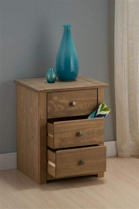 Santiago 3 Drawer Bedside Table