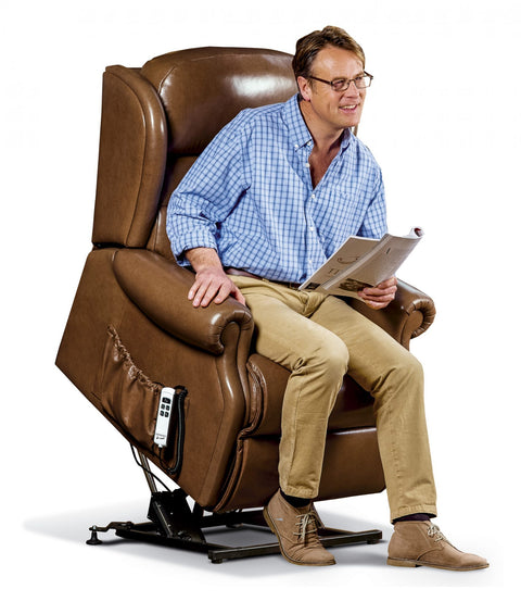 Sherborne Ashford Leather Electric Lift & Rise Recliner