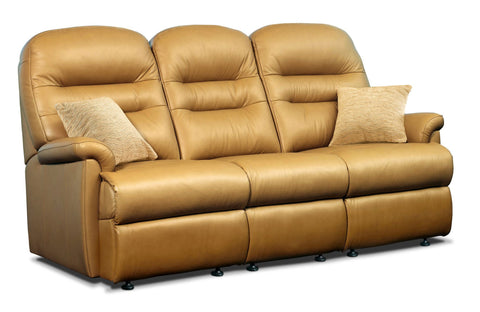 Sherborne Keswick Leather Fixed 3 Seat Sofa