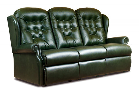 Sherborne Lynton Fixed Leather 3 Seater Sofa