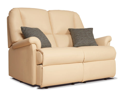 Sherborne Milburn Fixed Leather 2 Seat Sofa