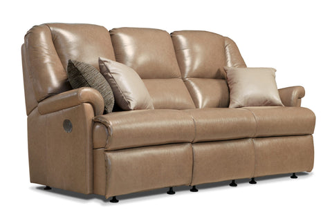 Sherborne Milburn Leather Fixed 3 Seat Sofa