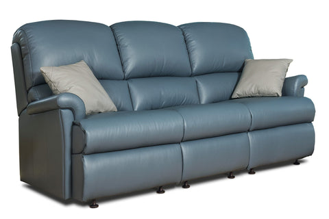 Sherborne Nevada Fixed Leather 3 Seat Sofa