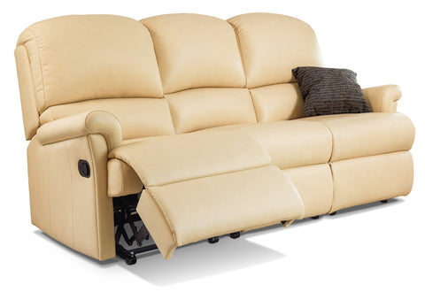 Sherborne Nevada Leather Reclining 3 Seat Sofa