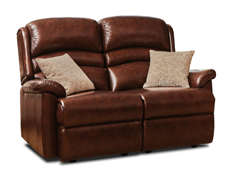 Sherborne Olivia Leather Fixed 2 Seater Sofa