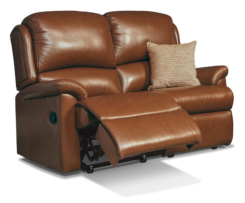 Sherborne Virginia Leather 2 Seat Recliner Sofa