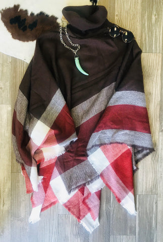 Brown Poncho One Size