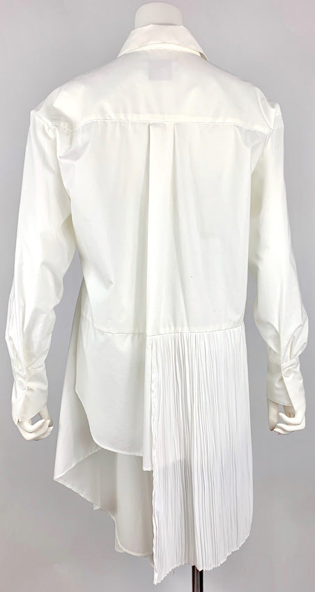 [PRE-ORDER] Pleated Asymmetric Blouse WHITE