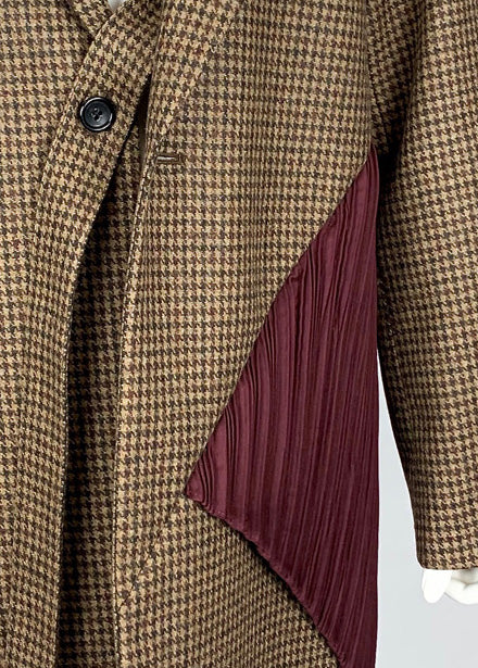 [PRE-ORDER] Pleated Boyfriend Blazer CHECK