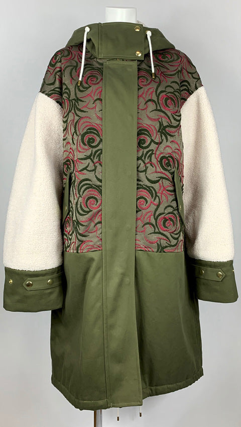 [PRE-ORDER] Embroidered Mods Coat OLIVE