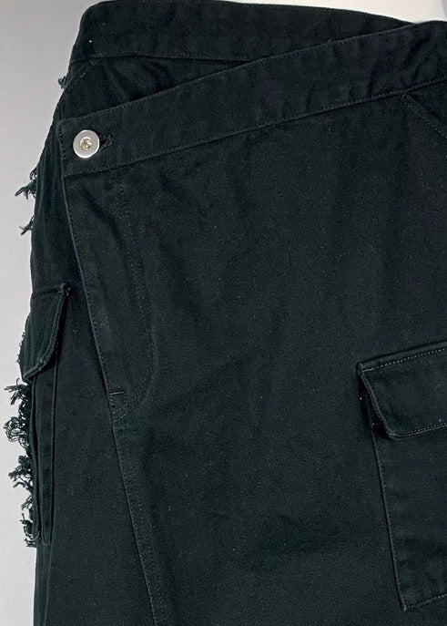[PRE-ORDER] Pleated Cargo Skirt BLACK