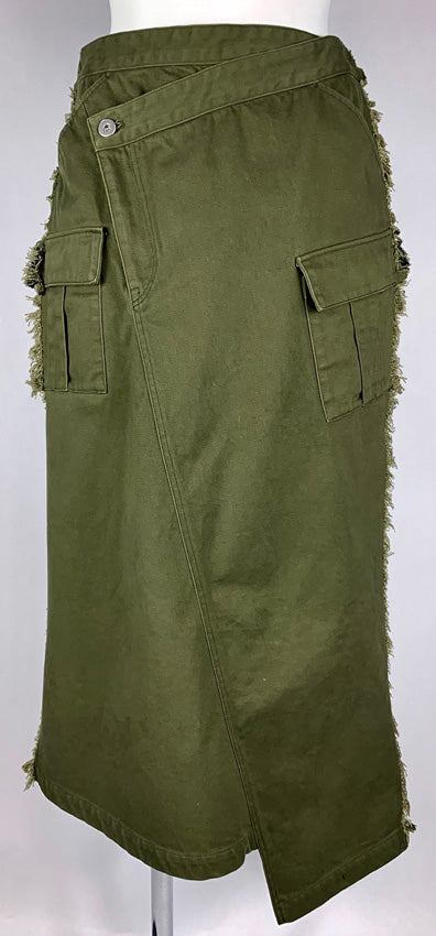 Pleated Cargo Skirt OLIVE