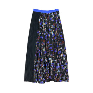 Haku Printed Pleated Skirt FLORAL