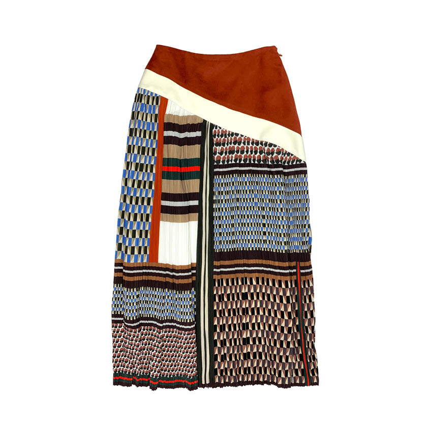 [PRE-ORDER] Printed Pleated Skirt RETRO