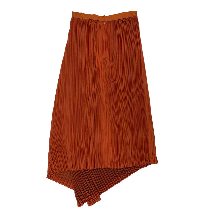 [PRE-ORDER] Pleated Suede Skirt ORANGE