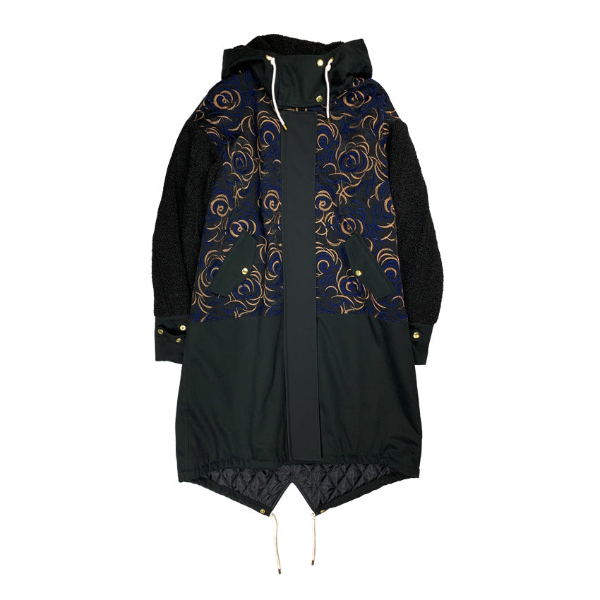 [PRE-ORDER] Embroidered Mods Coat BLACK