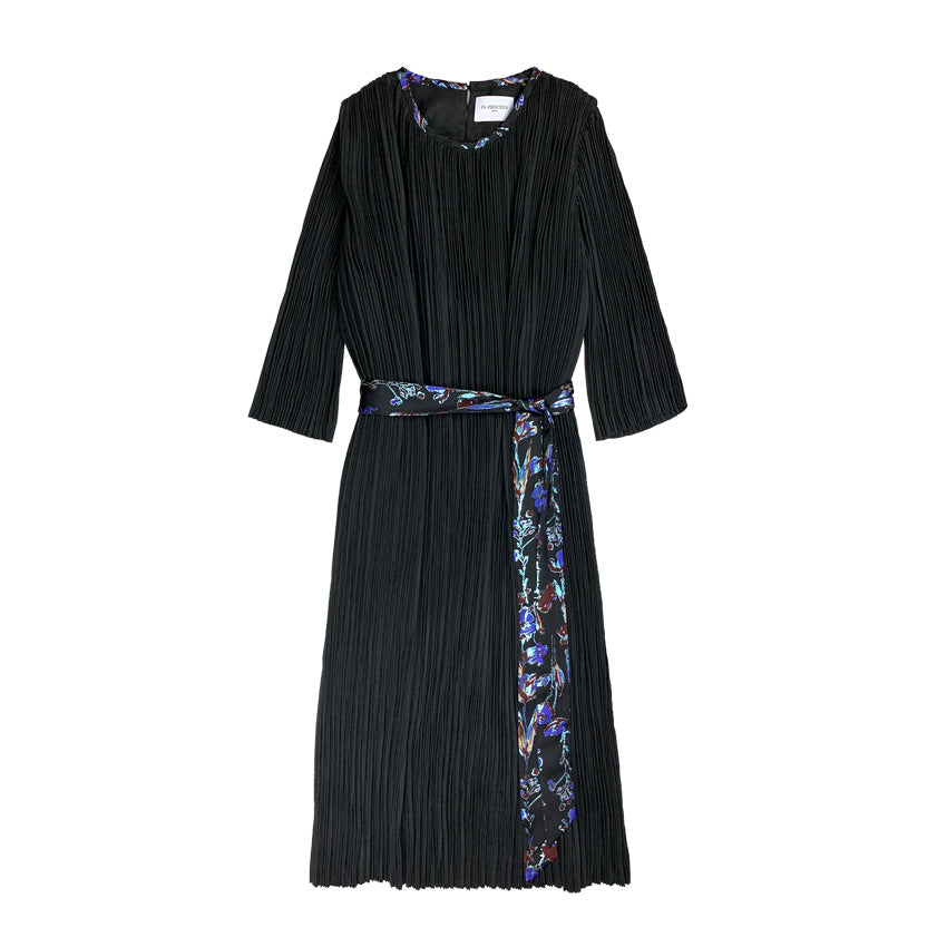 [PRE-ORDER] Pleated Suede Dress BLACK