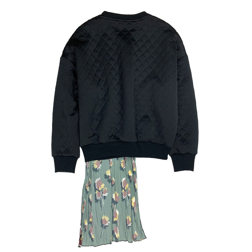[PRE-ORDER] Quilted Pleated Jumper BLACK