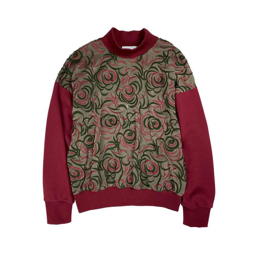 Embroidered Sweat Jumper OLIVE