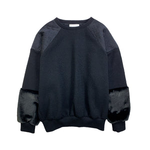 PatchWork PullOver BLACK