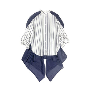 Stripe Shirring Shirt STRIPE