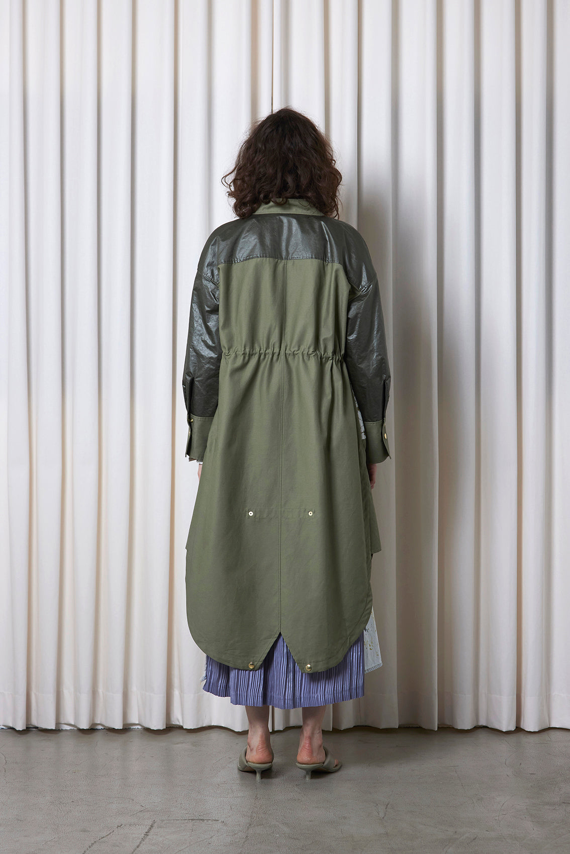Embroidered Mods Coat OLIVE