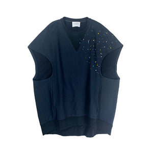 Artist Workwear Sweat Vest NAVY