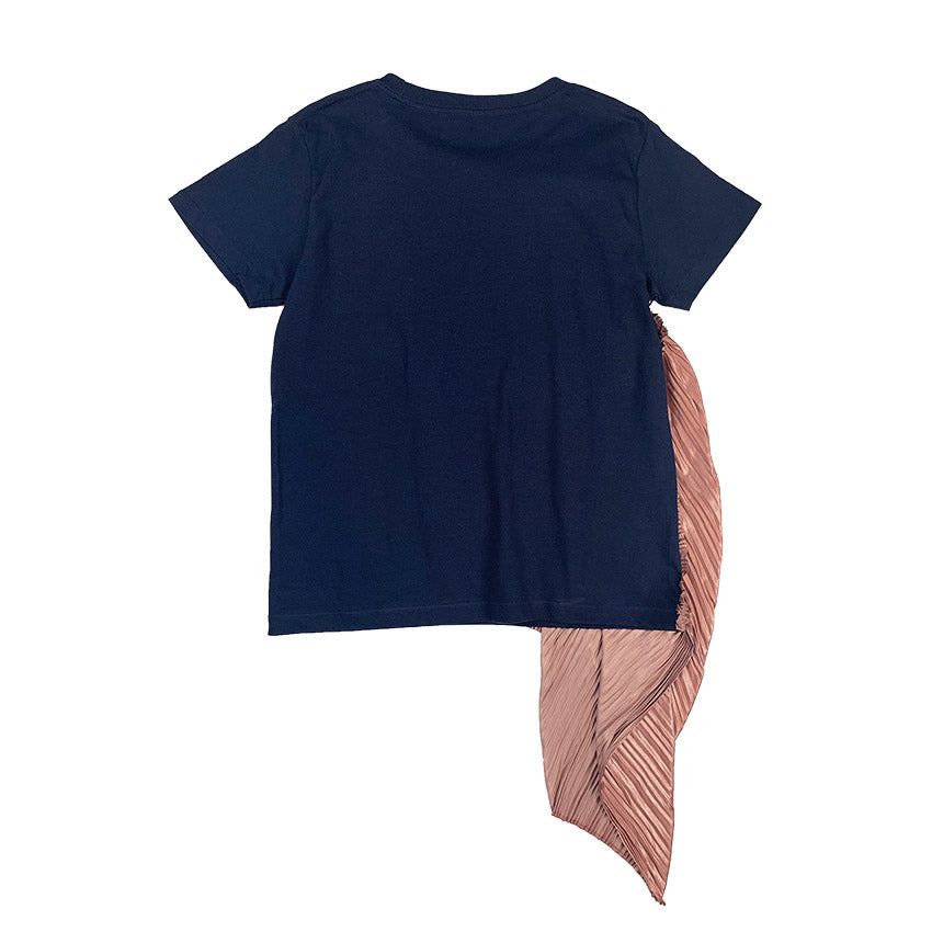 Pleated Tee NAVY
