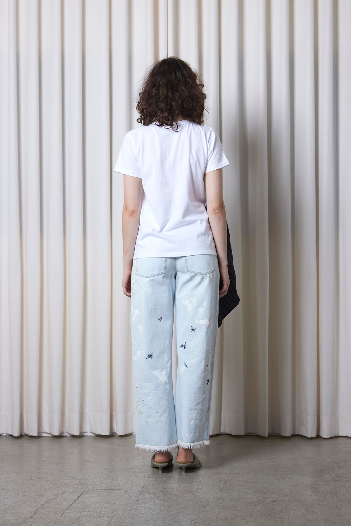 Pleated Tee WHITE