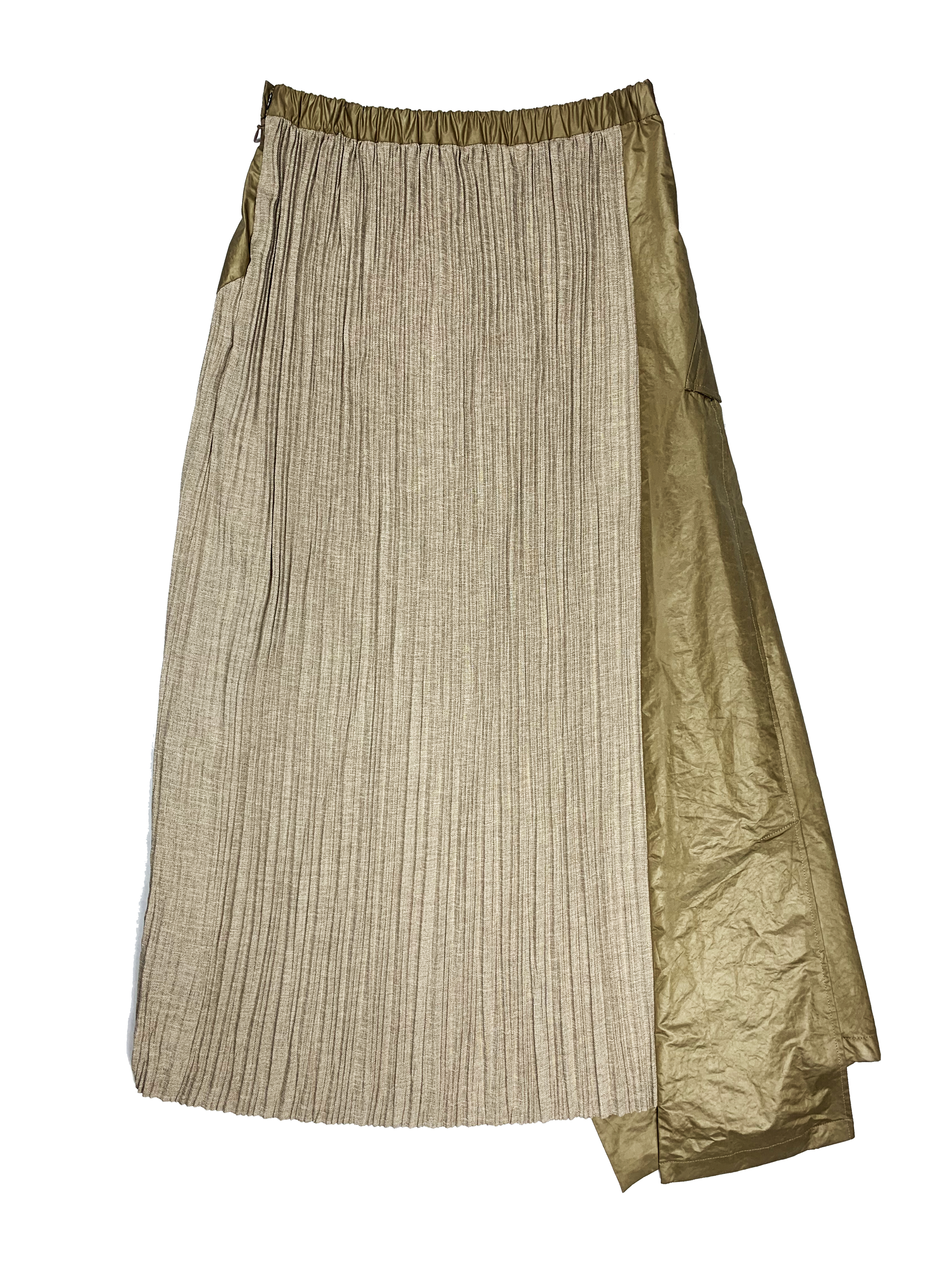 Pleated Trench Skirt CAMEL