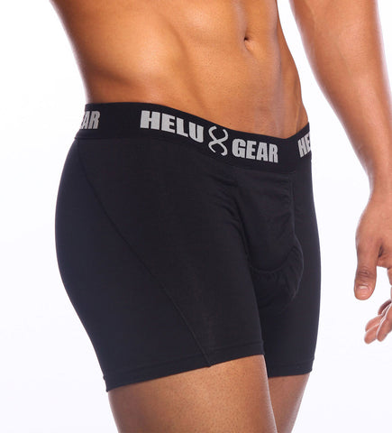 Black Microfiber Boxer Brief