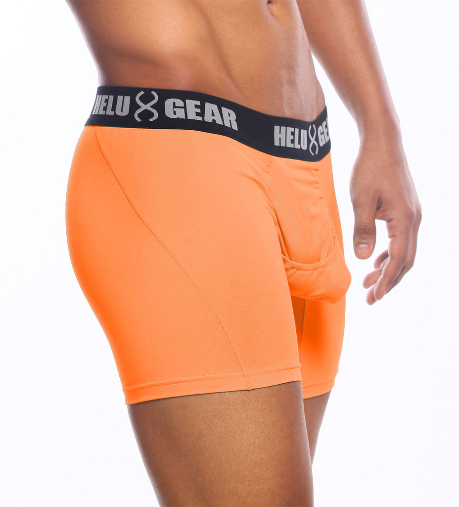 Orange Microfiber Boxer Brief