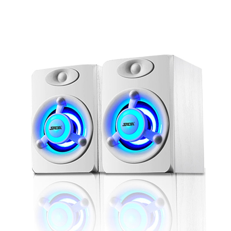 USB 2.0 Loudspeaker with Colorful Breathing LED Light Speaker