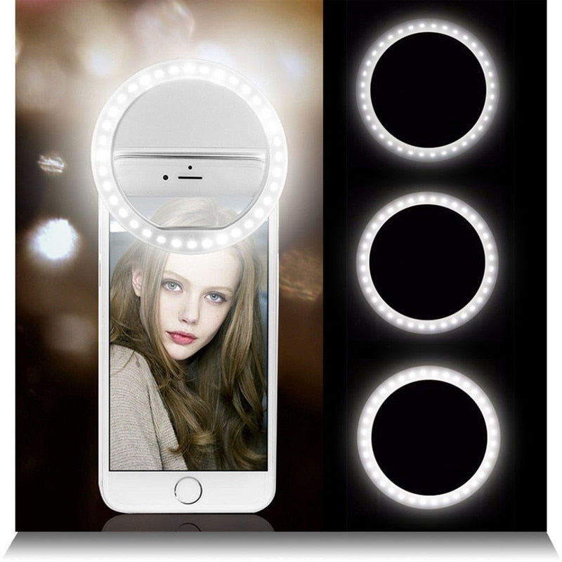 Selfie LED Ring Flash Lumiere Telephone Portable LED Mobile Phone Light