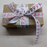 Xmas Gift Wrap - Kraft and Ribbon