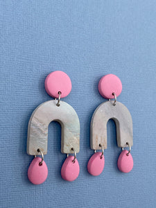 Pastel Skies - Arched Statement Earrings