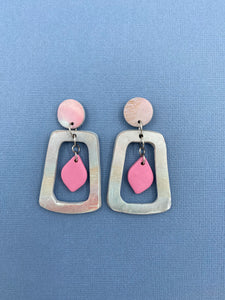 Pastel Skies - Cut Out Statement Earrings