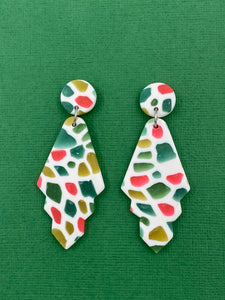 Stained Glass - Art Deco Statement Earrings