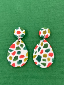 Stained Glass - Tear Drop Statement Earrings