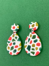 Load image into Gallery viewer, Stained Glass - Tear Drop Statement Earrings