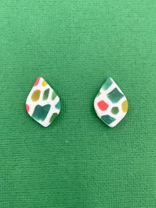 Stained Glass - Tear drop Studs