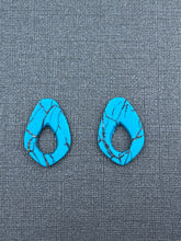 Load image into Gallery viewer, Turquoise Stone - Cut Out Oversizes Studs