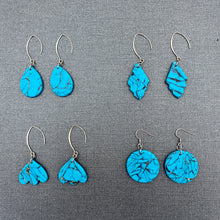 Load image into Gallery viewer, Turquoise Stone - Teardrops on Hooks