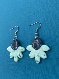 Seaglass Collection - Floral Dangle on Hooks