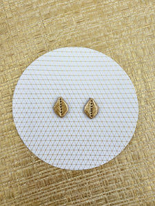 Gold Foil - Teardrop Studs with dots