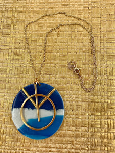 The Waters Edge - Circle Pendant 2