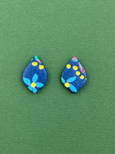 Load image into Gallery viewer, Navy Mosaic - Teardrop Stud